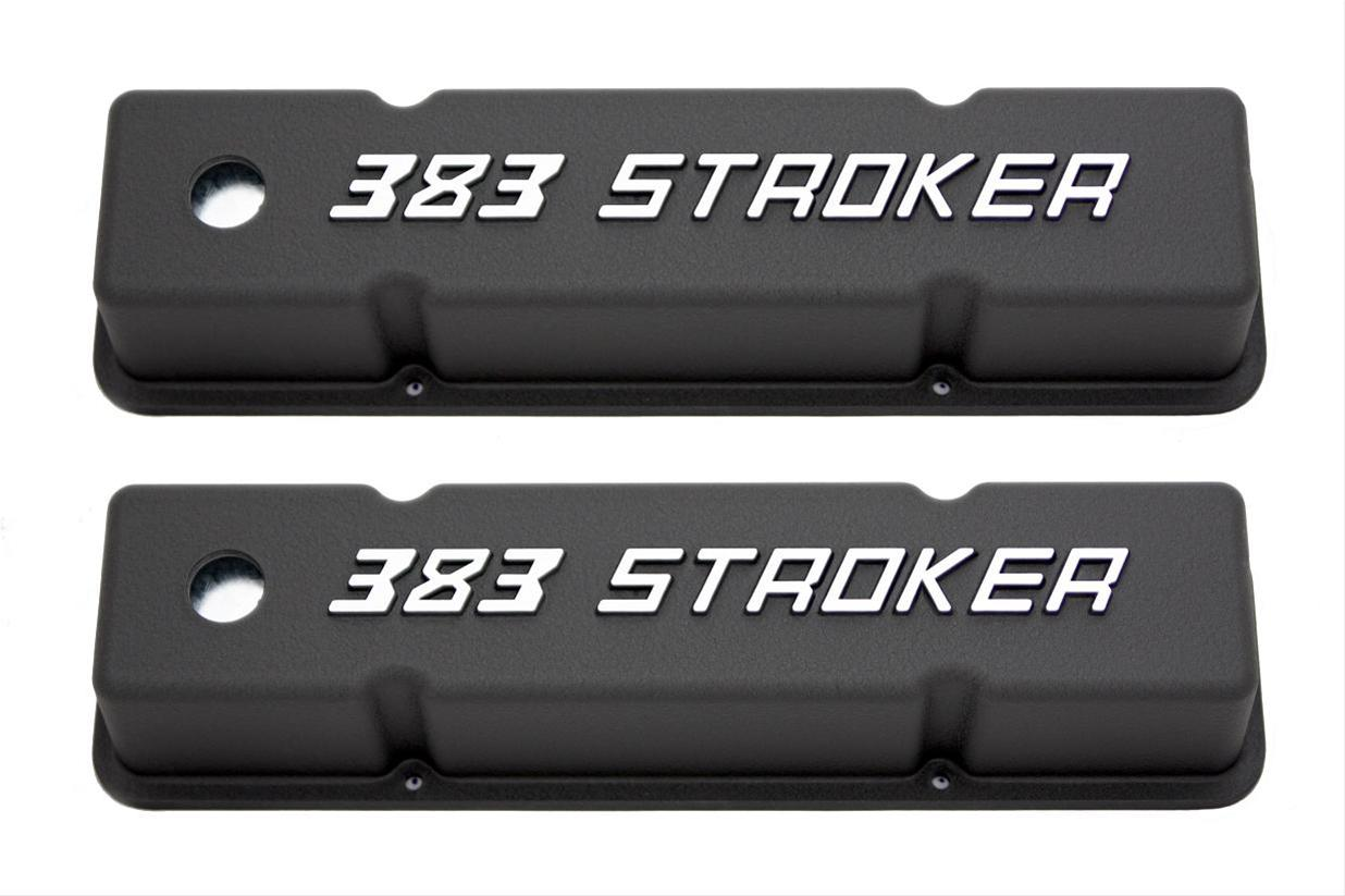 Summit Racing Die Cast Logo Aluminum Valve Covers Sum 440402 Free Oldsmobile 3 8 Engine Diagram Cover Pictures Shipping On Orders Over 99 At