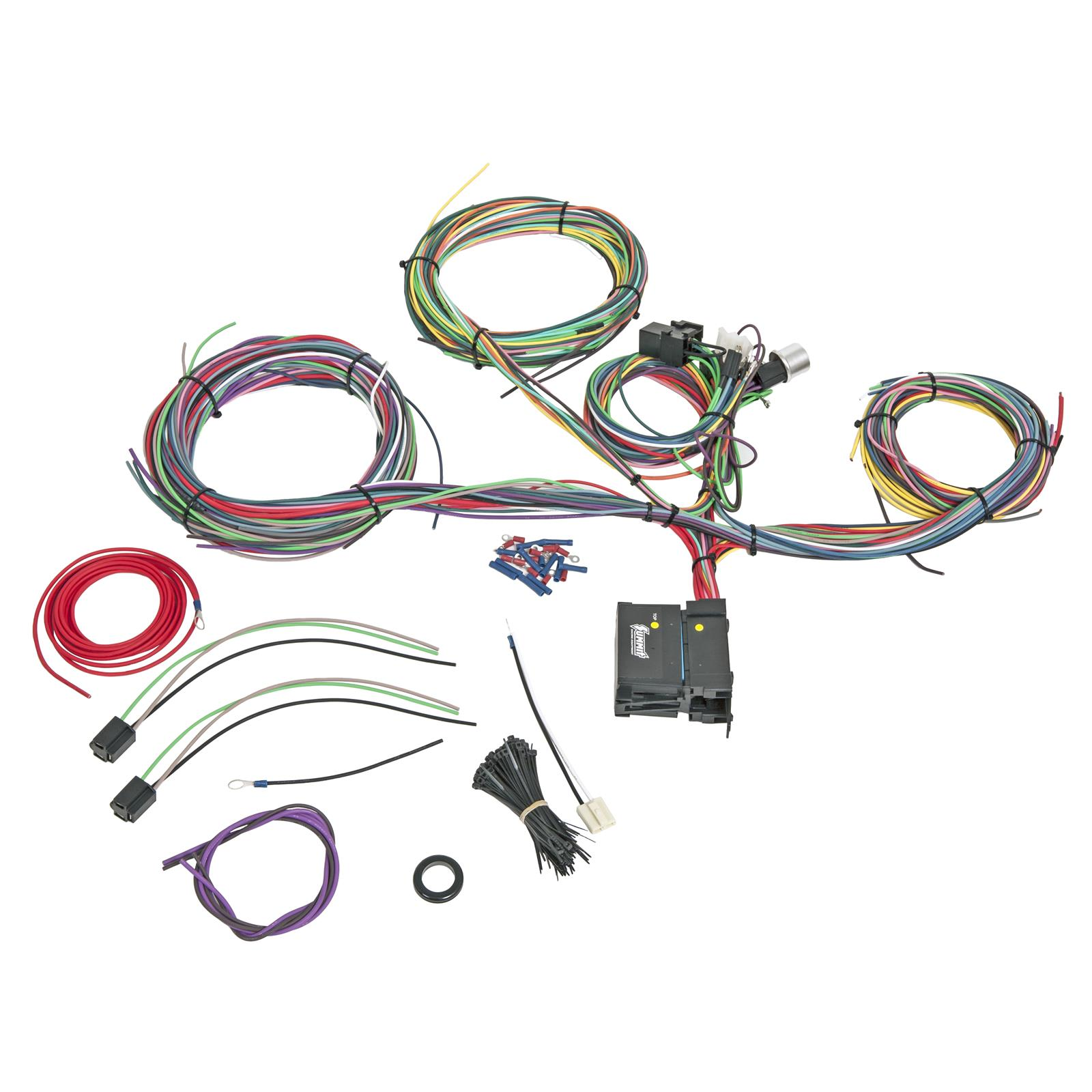 sum 890021_xl summit racing� 18 circuit universal wiring harnesses sum 890021 packard wiring harness at gsmportal.co