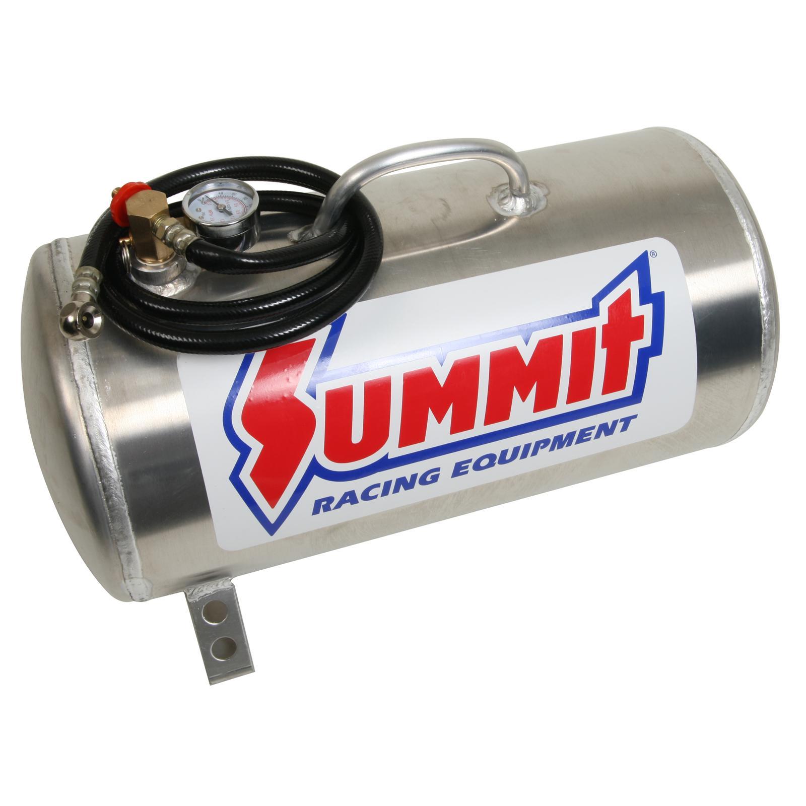 Summit Racing Air Tank 5 Gallons Natural Hose Pressure Gauge Each  #B2191C