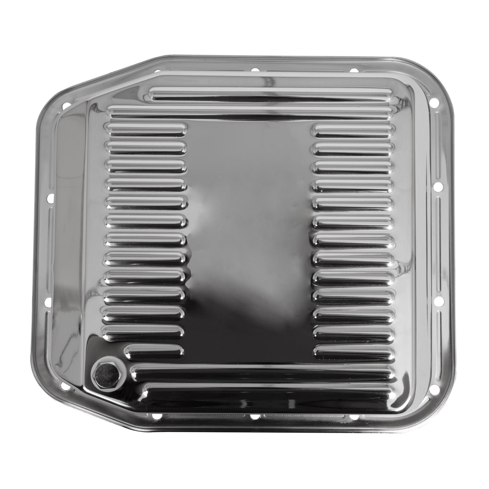 Summit Racing G3887 Transmission Pan Stock Steel Chrome