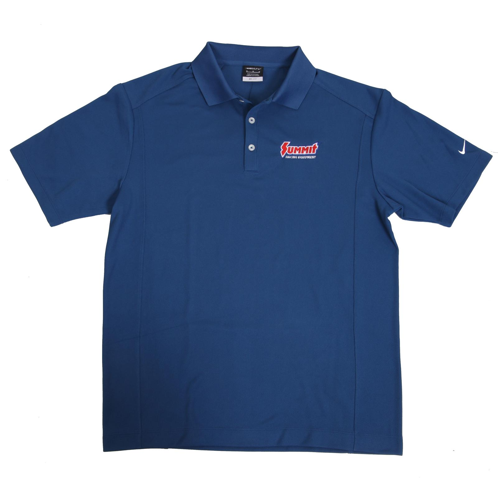 Summit racing embroidered logo polo shirts sum p m