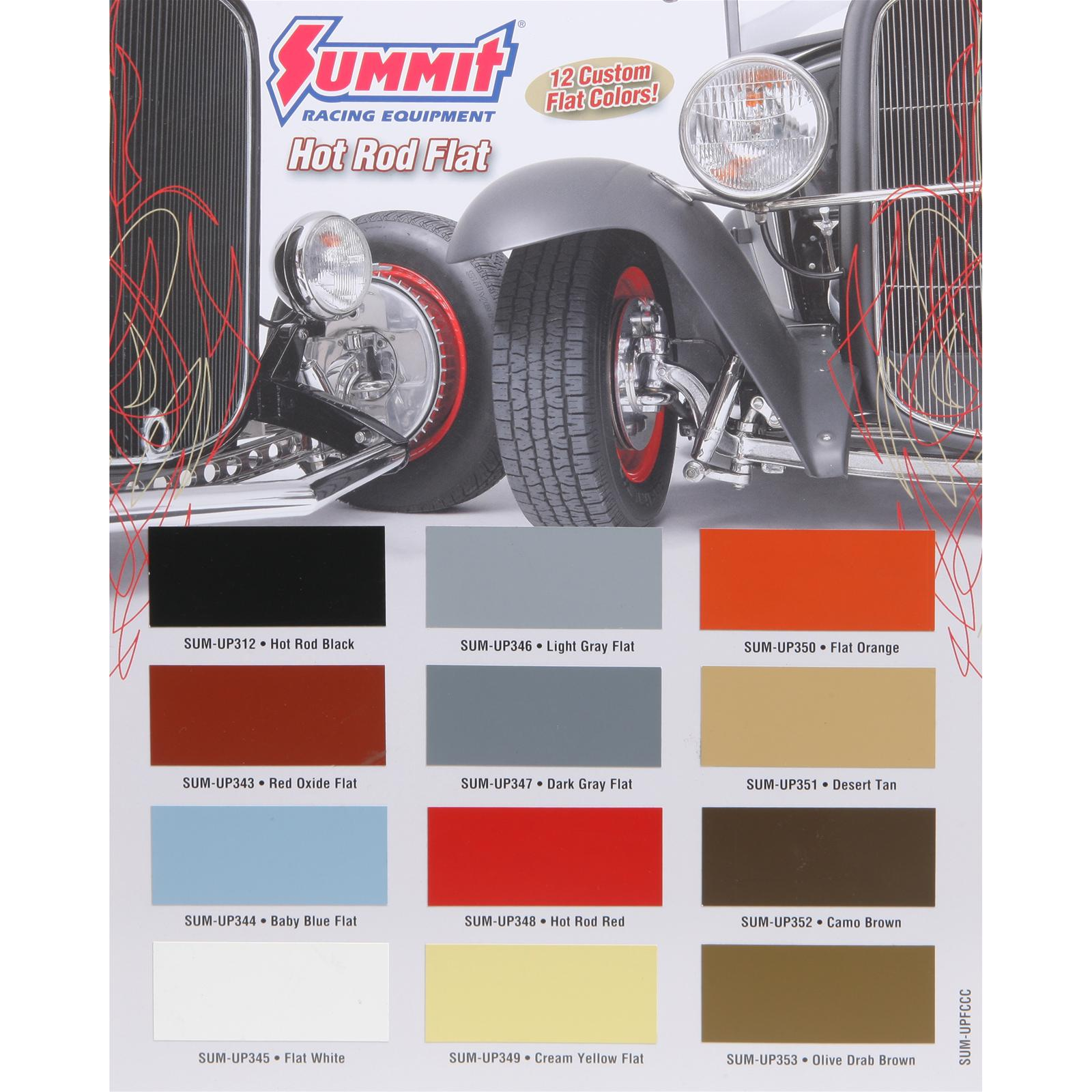 Summit Racing 1 Stage Flat Paint Chip Charts Sum Upfccc Free 1964 Dodge Color Chips Shipping On Orders Over 99 At