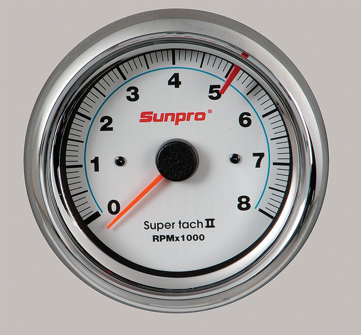 sun cp7903_w_xl sunpro sun super tach ii tachometers cp7903 free shipping on Vintage Sun Tachometer Wiring at gsmportal.co