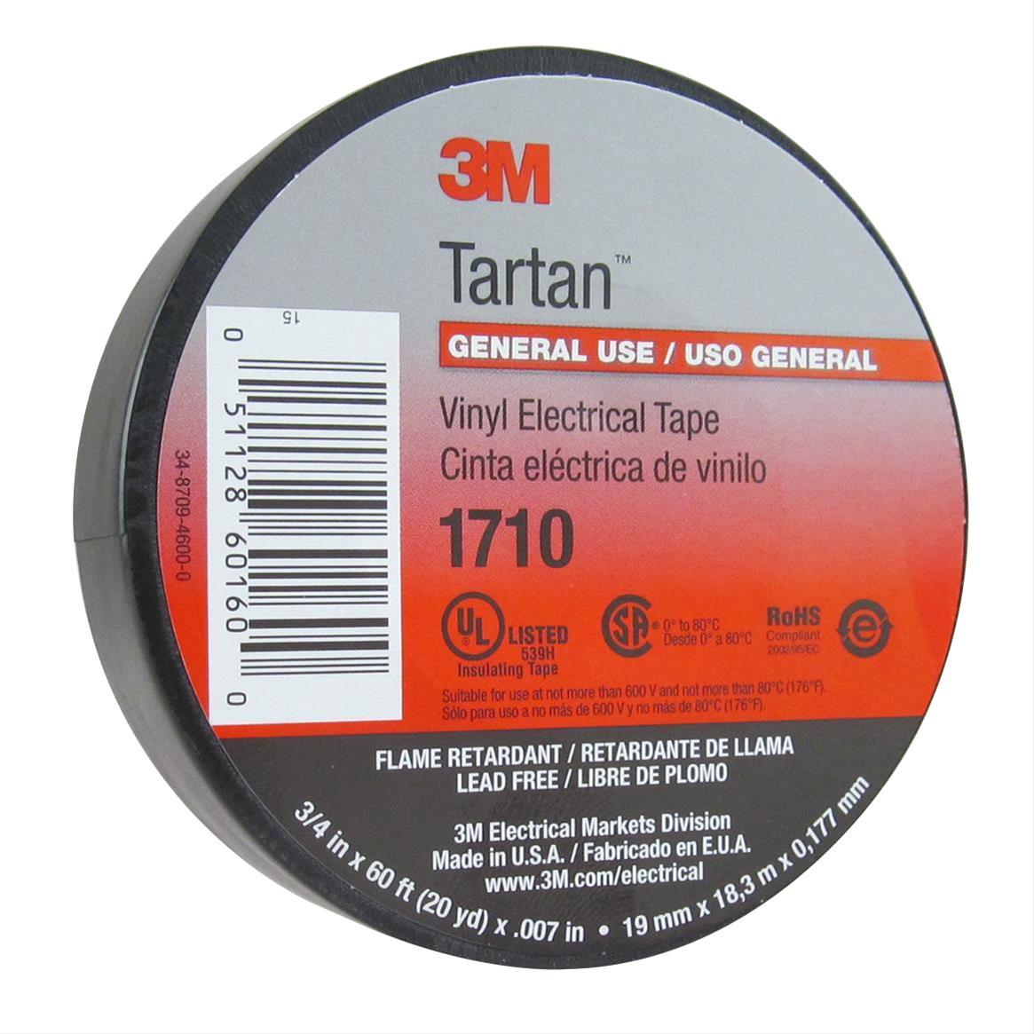 3M Tartan 1710 Vinyl Electrical Tapes 60160