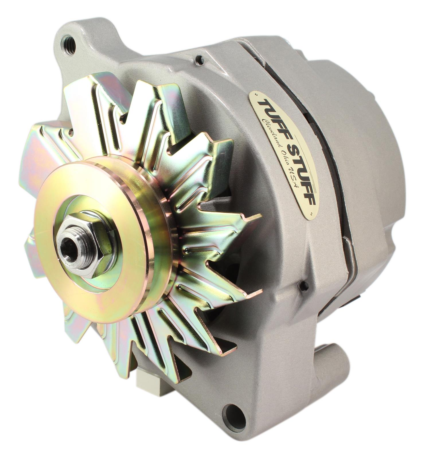 Tuff Stuff Performance High-Amp Output Factory Cast-Plus Alternators 7068 -  Free Shipping on Orders Over $49 at Summit Racing