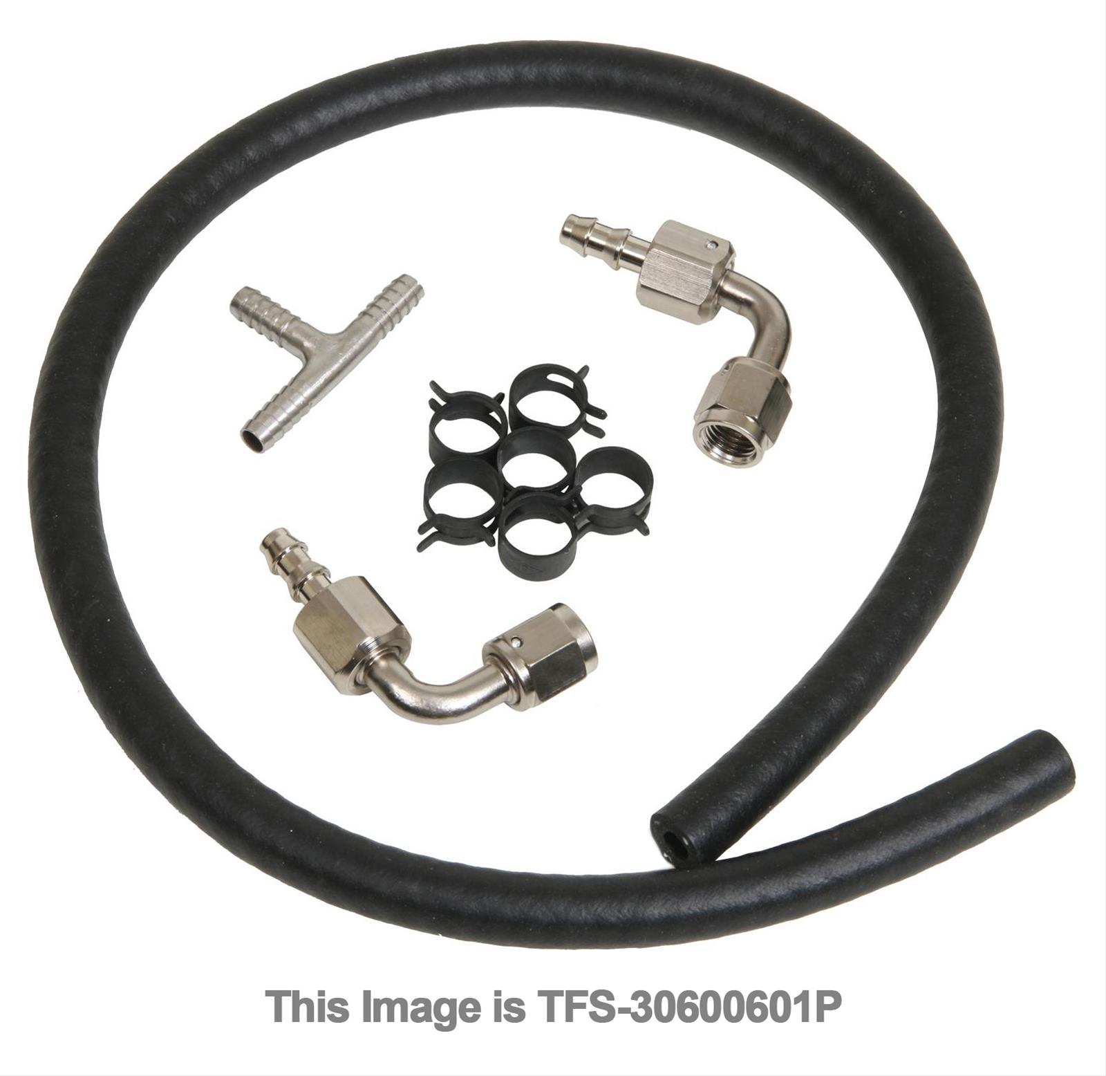 Finish Line Free Shipping Trick >> Trick Flow GM LS Engine Steam Line Front Plumbing Kit TFS ...