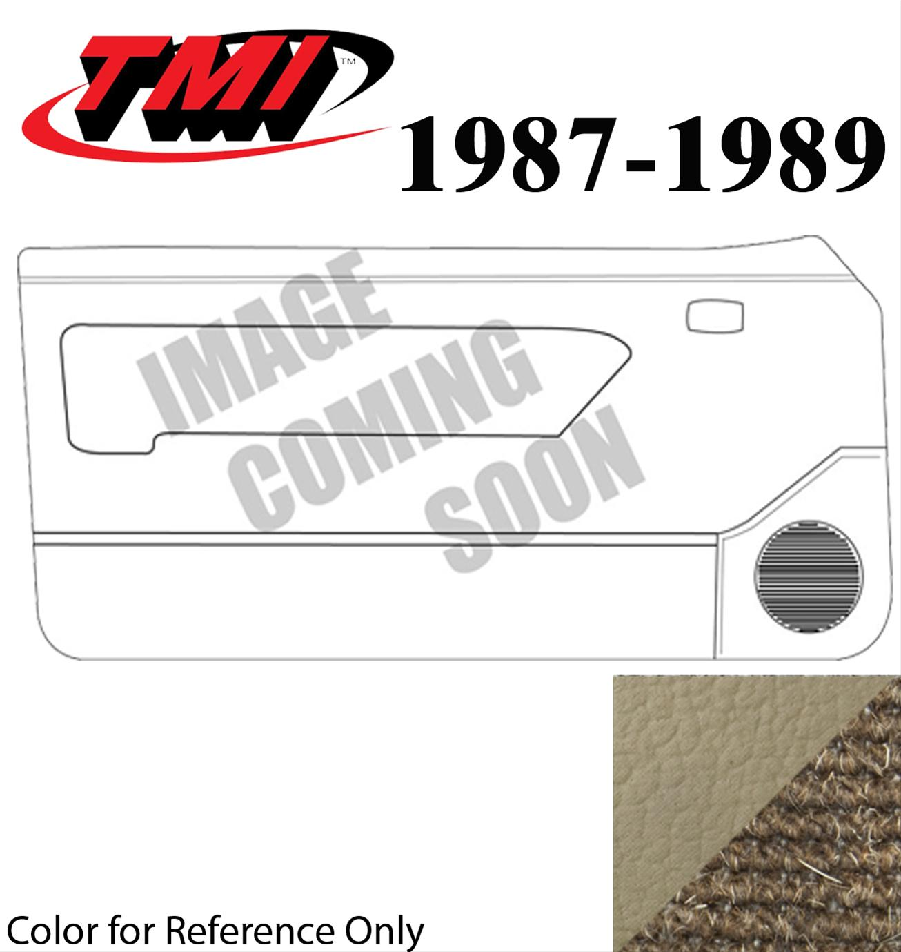 Inserts ACC 1987-1989 Ford Mustang Door Panel Replacement Carpet Factory Fit Fits: Convertible Cutpile
