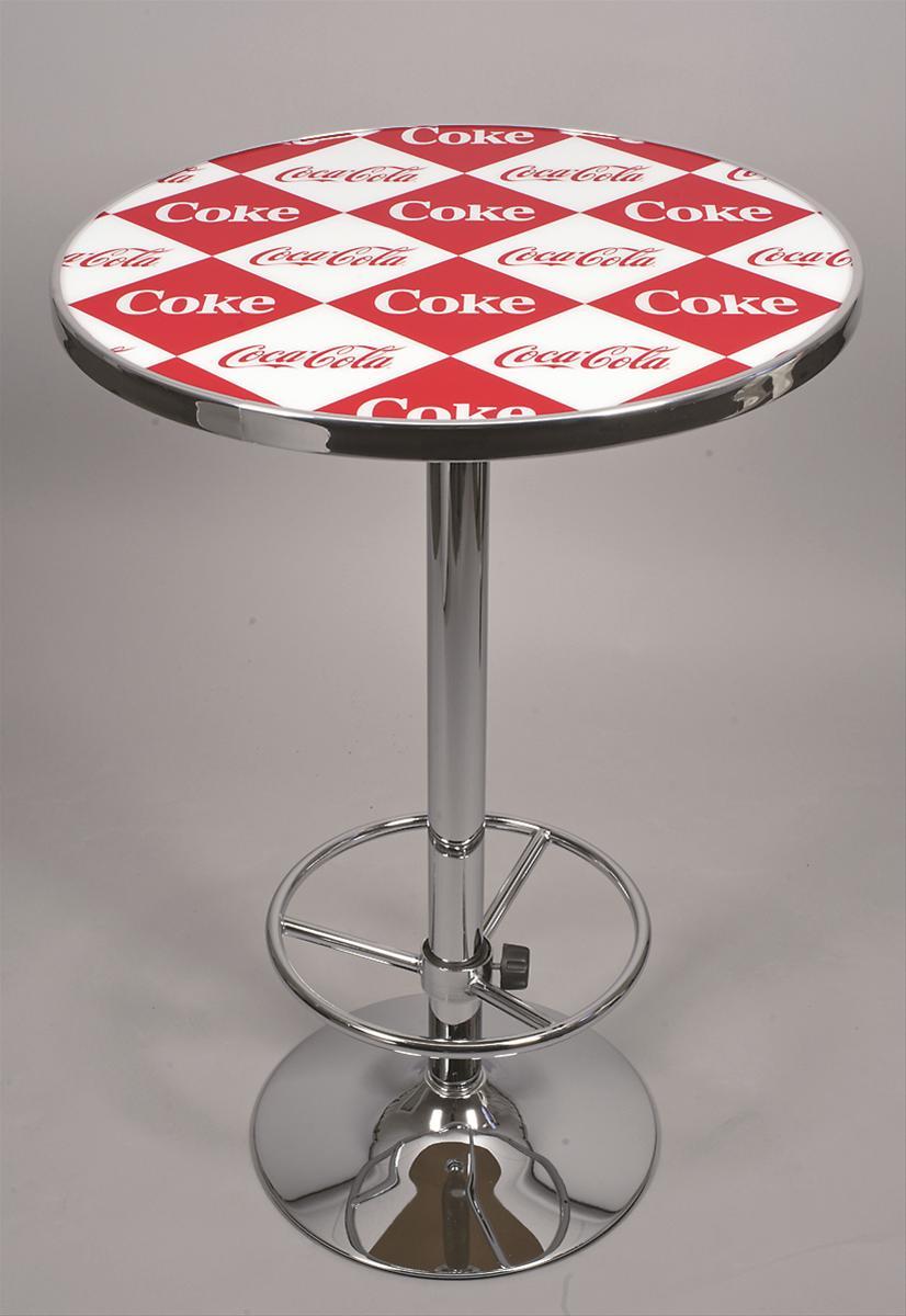 Coca cola red checkered pub table 2000 v10 free for 99 pub table