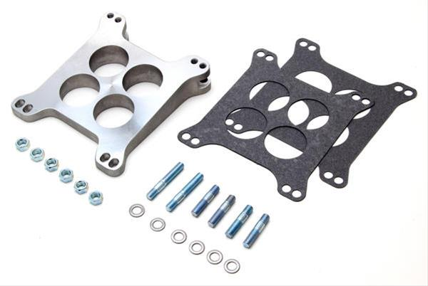 Trans-Dapt Carburetor Spacer Aluminum Natural 8 Degree Wedge 4-Hole Each 2028
