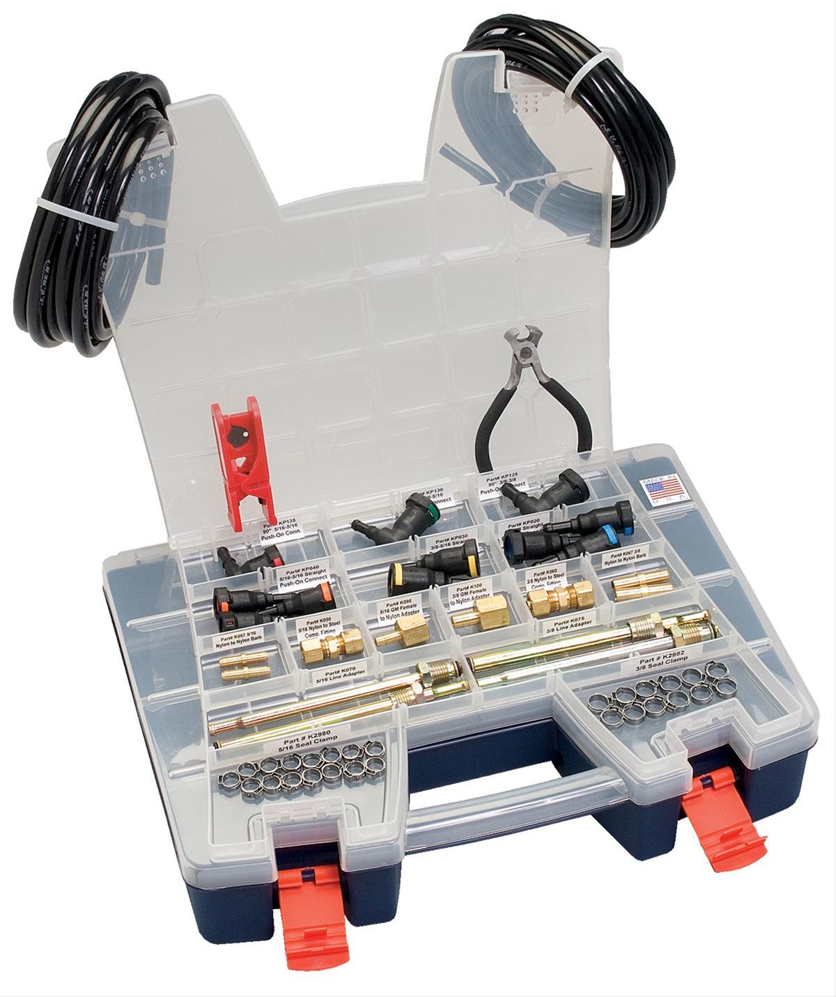 S u r fuel line repair parts quick connect nylon black