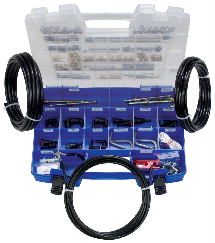 Deluxe Fuel Line Repair Parts Quick Connect Nylon Black Kit S.U.R./&R