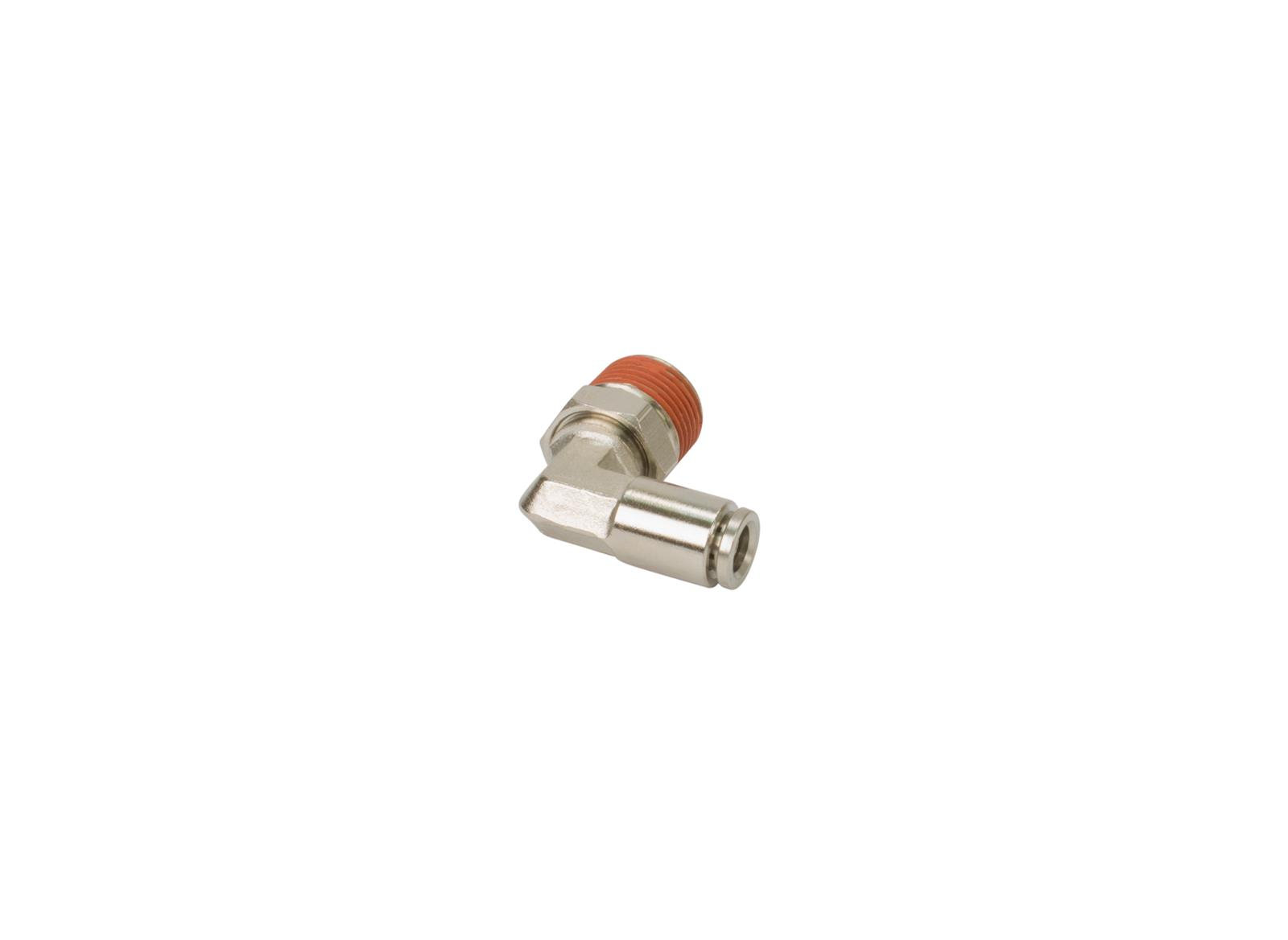 """Vibrant One Touch Air Fitting 90 Degree 1//8/"""" NPT to 1//4/"""" Push Hose 2667"""