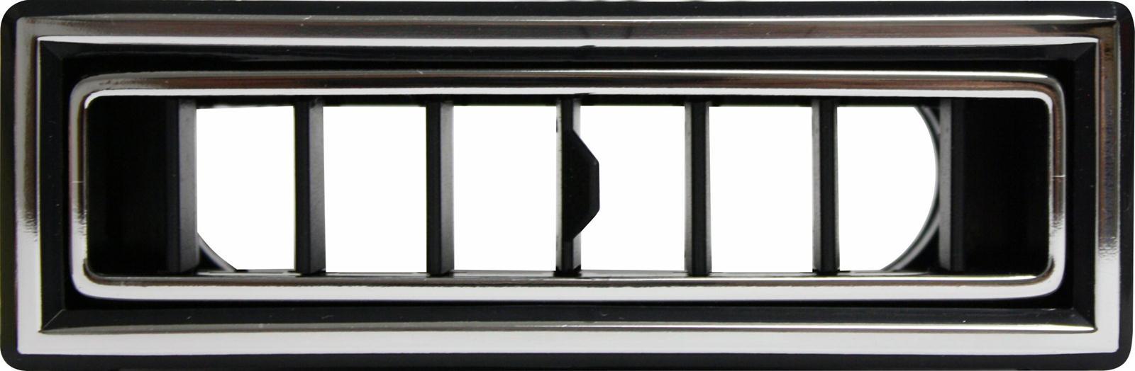 Vintage Air 49056-VUL Black//Chrome Rectangle In Dash Standard Louver