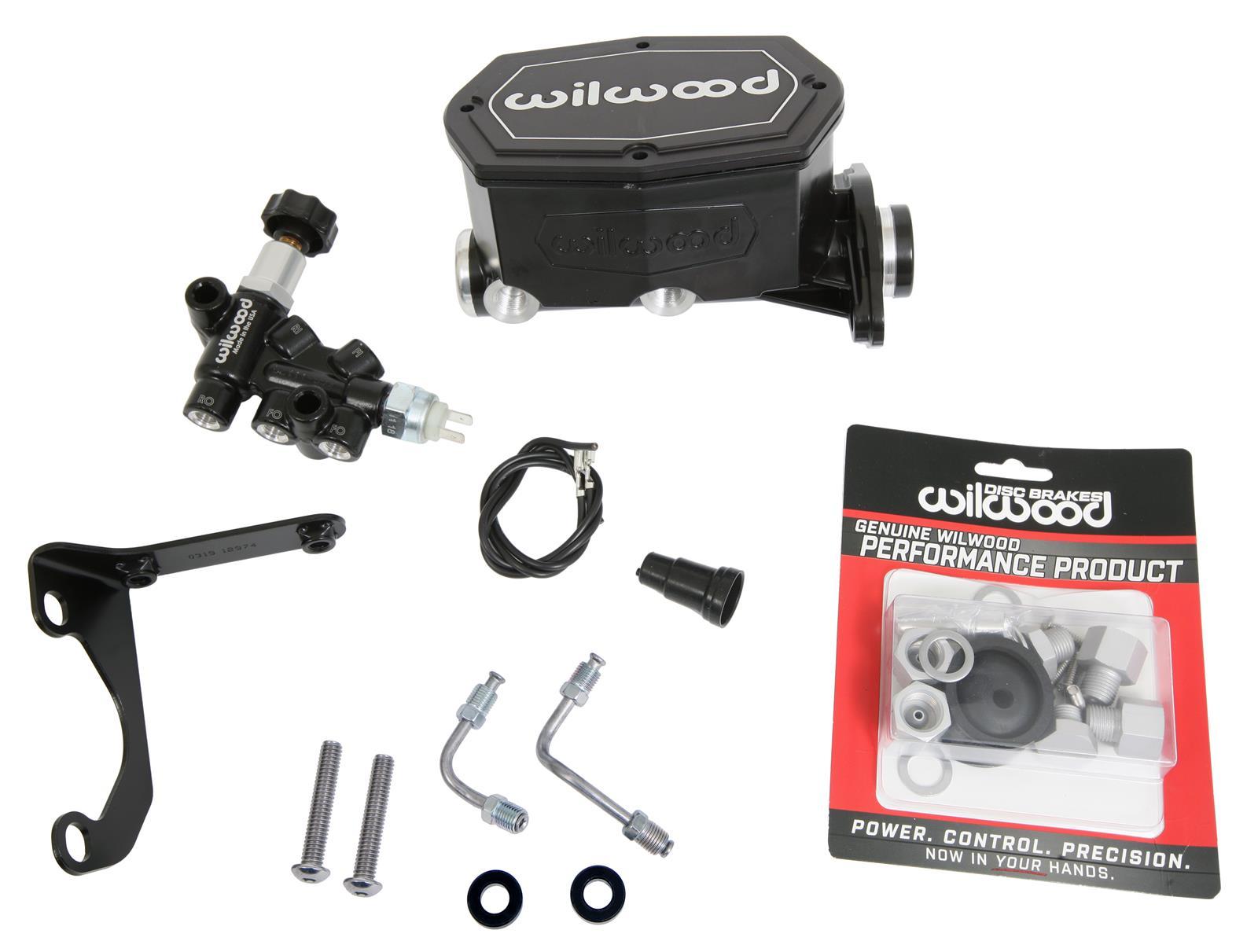 Wilwood 260-15540-BK Compact Tandem Master Cylinder w//Pushrod