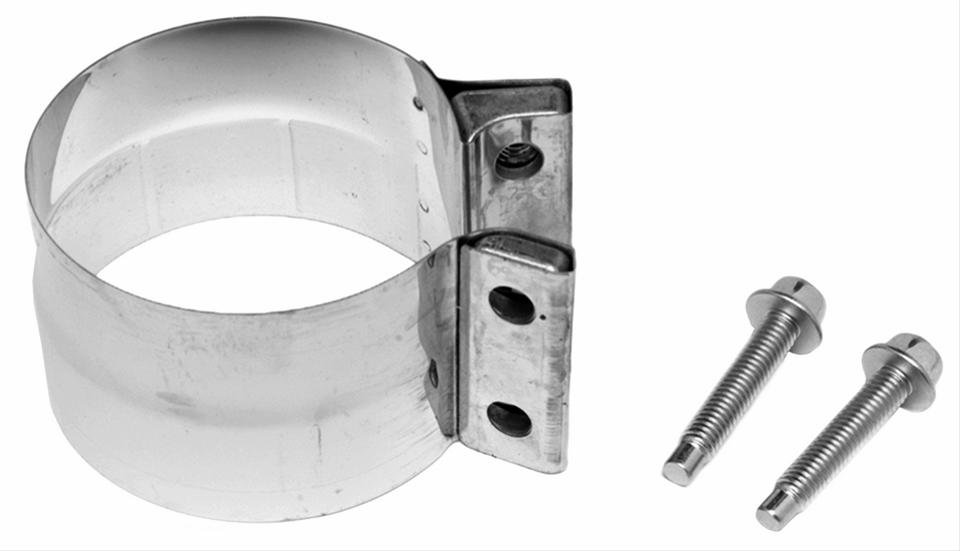 Walker lap joint band muffler clamp quot stainless steel