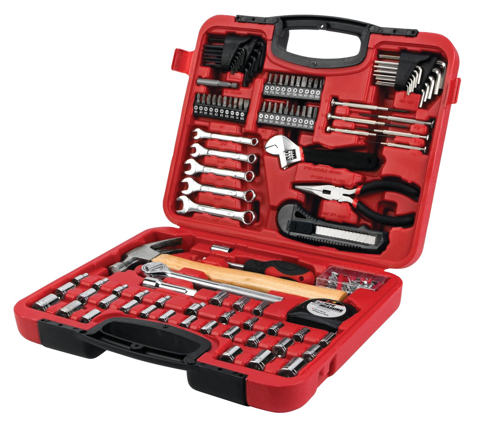 Performance Tool W1538 SAE//Metric 94 Piece Mechanics Product Tool Set