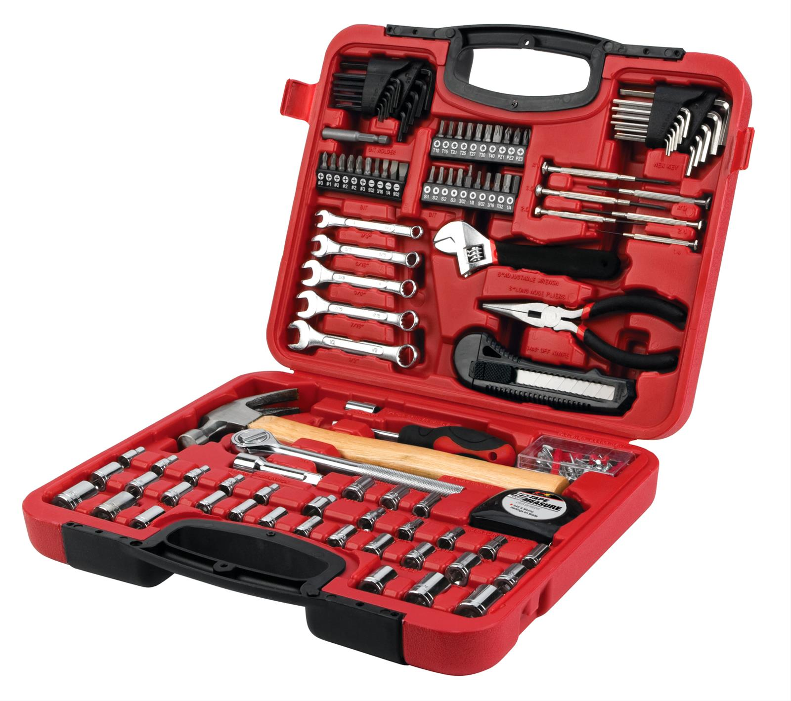 performance tool home and auto tool set storage case 107 piece kit ebay. Black Bedroom Furniture Sets. Home Design Ideas