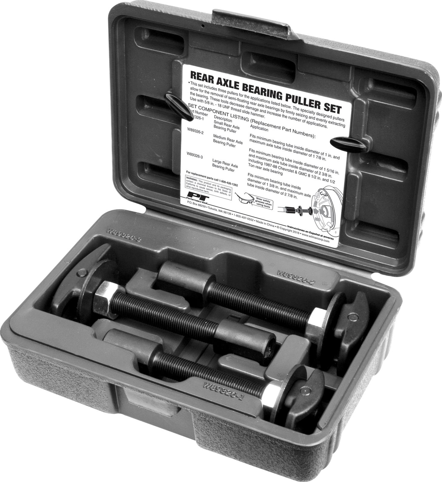 Performance Tool Rear Axle Bearing Puller Kits W89326