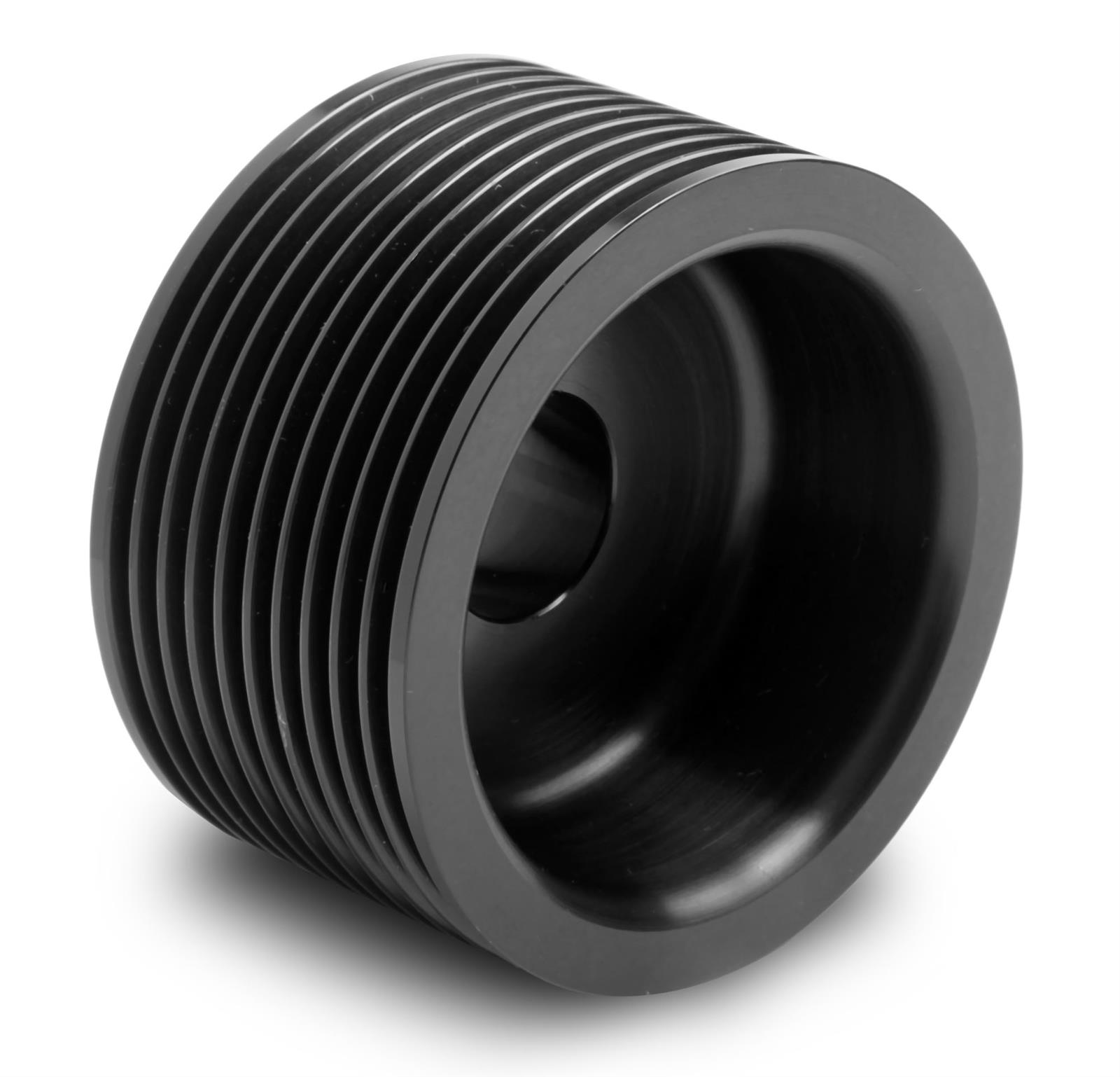 Aluminum Supercharger Pulley: Weiand 6890 Pulley Supercharger Serpentine Aluminum Black