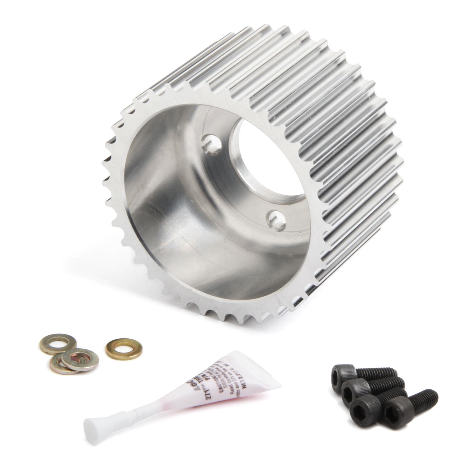 Aluminum Supercharger Pulley: Weiand Accessory Drive Pulley 91004