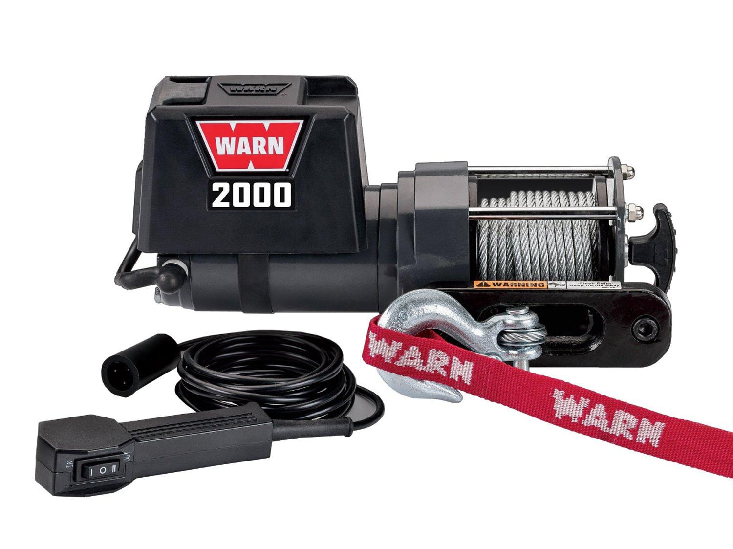 Warn 2000 Dc Winches 92000 Free Shipping On Orders Over 99 At Llc Atv Products Winch Remote Control Summit Racing