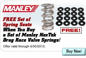 FREE Set of Spring Seats When You Buy a Set of Manley NexTek Drag Race Valve Springs