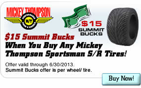 $15 Summit Bucks When You Buy Any Mickey Thompson Sportsman S/R Tires!