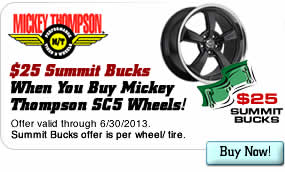$25 Summit Bucks When You Buy Mickey Thompson SC5 Wheels