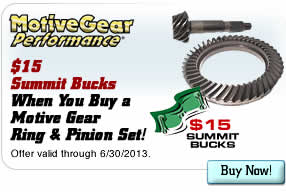 $15 Summit Bucks When You Buy a Motive Gear Ring & Pinion Set
