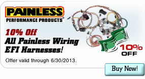 10% Off All Painless Wiring EFI Harnesses