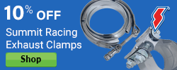 10% Off Summit Exhuast Clamps
