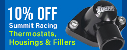 10% Off Summit Racing Thermostats, Housings & Fillers